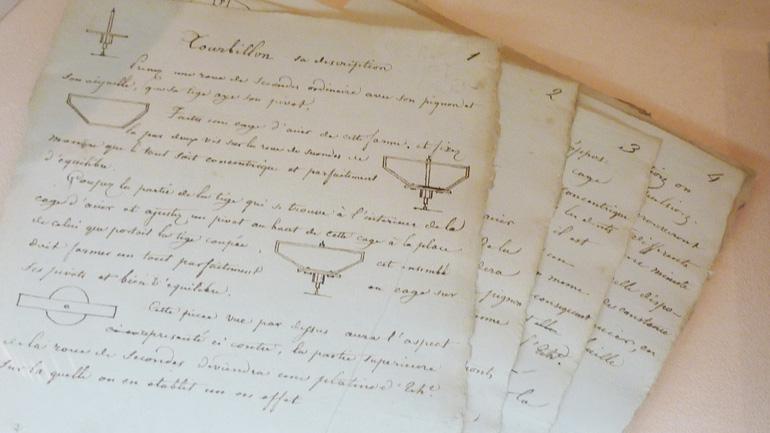 Brevet d'invention du Tourbillon par Abraham-Louis Breguet