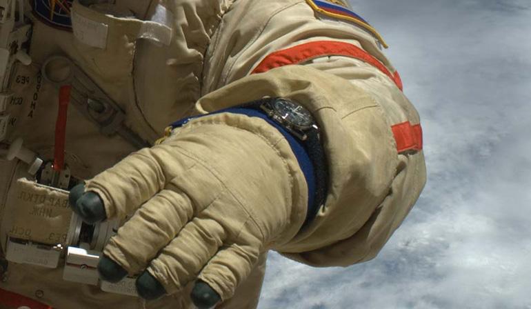Une Speedmaster portée par un astronaute