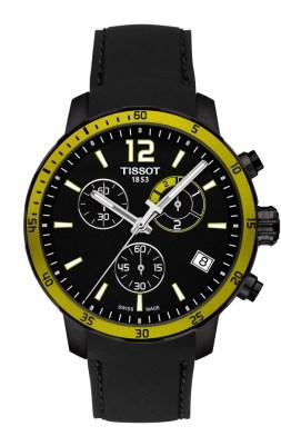 Tissot Quickster Football noire et jaune