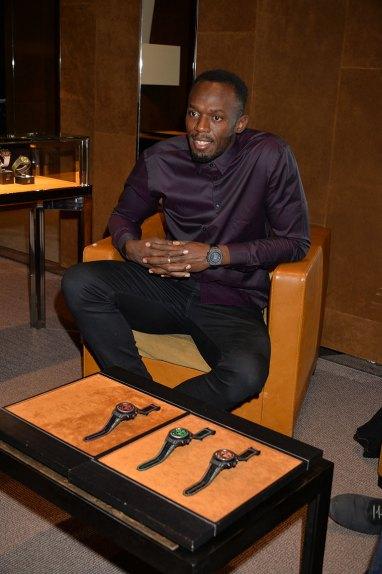 Usain Bolt Boutique Hublot Londres New Bond Street