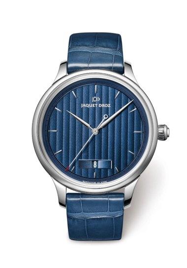 Grande Heure Minute Quantième Jaquet Droz Bleue 43mm