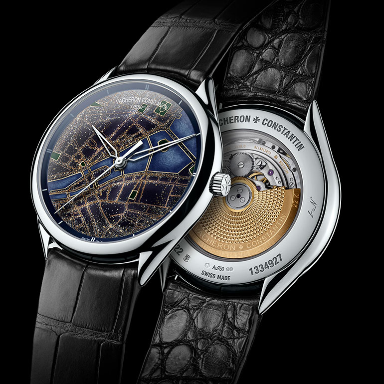 Vacheron Constantin Collection Metiers d'Art Villes Lumieres Montre Vue Face Vue Fond