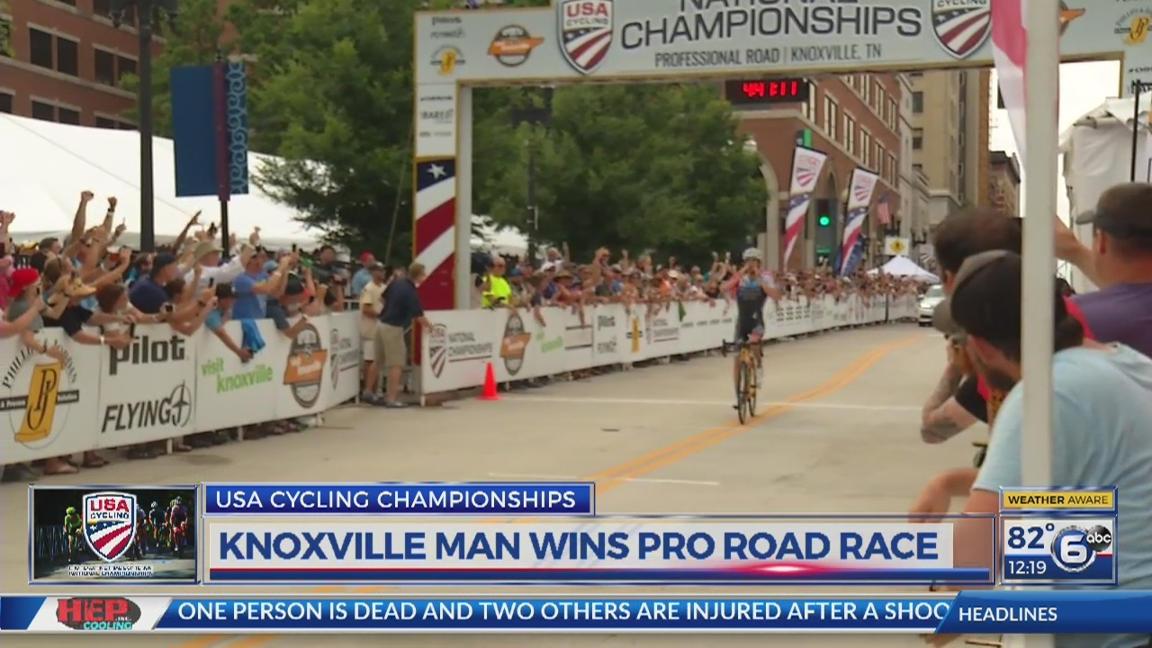 Knoxville man wins pro road race