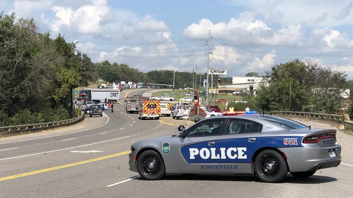 2 taken to hospital after crash on Rutledge Pike