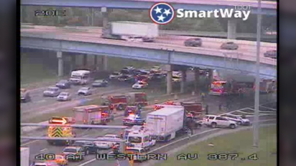 I-40 multi-vehicle crash