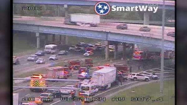 I-40 multi-vehicle crash