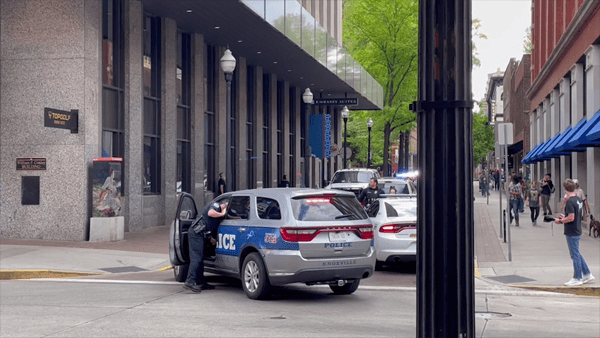 downtown knoxville police pursuit