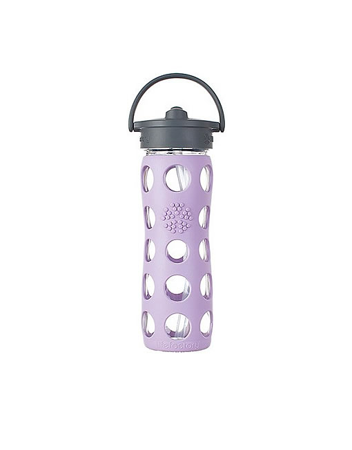 Lifefactory Bottle Straw-Top 473ml - lilac