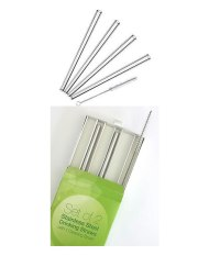 tainless Steel Drinking Straw Set - 2 Straws + Brush