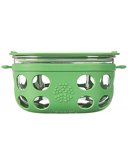 lifefactory 950ml glass storage lunch container grass green