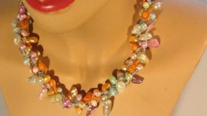 Barokparel multicolor licht met nugget multicolor licht 1