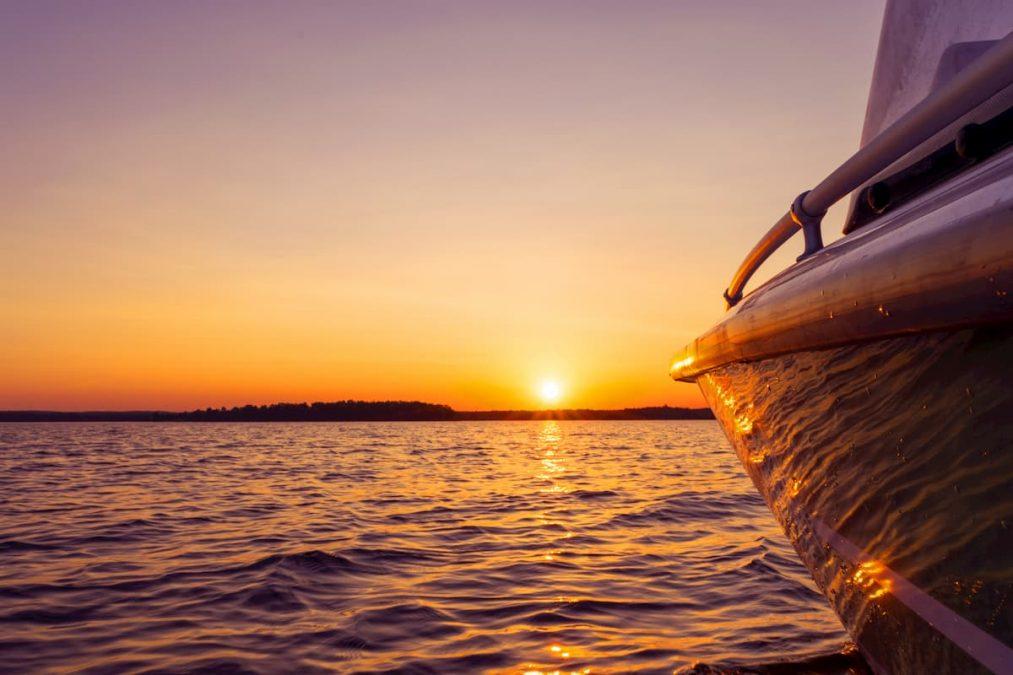 A beautiful sunset boat ride near Westport.