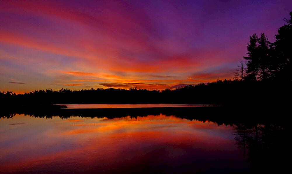 A sunrise at Loon Lake.
