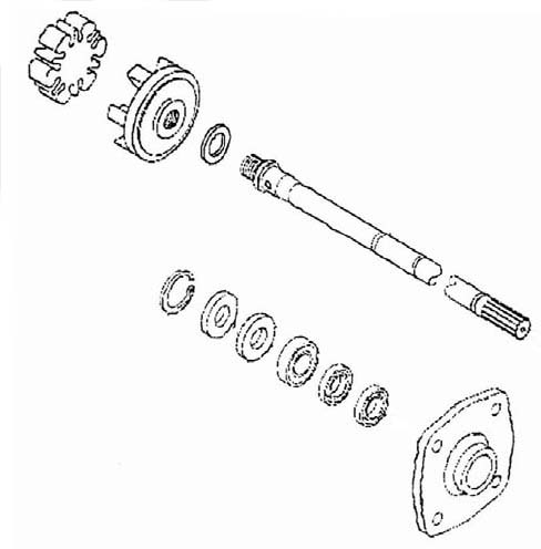 Kawasaki 550SX 650 750 900 1100 Shaft Housing Repair Kit