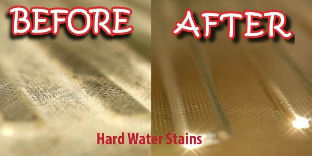 how to get rid of hard water stains on glass
