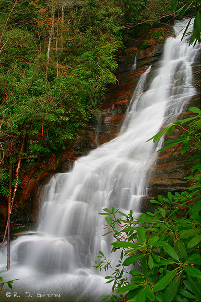 Vermont Wallpaper Fall Red Fork Falls In Unicoi Co Tennessee