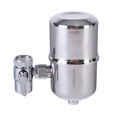 water purifier on faucet. Water Filter, Wingsol Healthy Faucet Filter System - Tap Purifier Purifying On