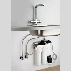Kitchen Filter Cafe Curtains For Osmio Mariella Chrome 3 Way Tap Ultra Pure Kit Taps Tri Flow With System