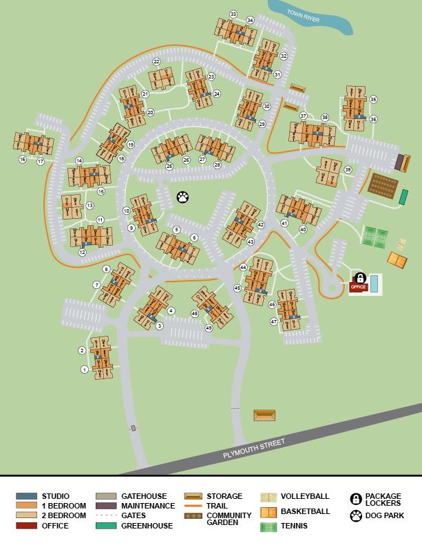 Waterford Village Apartments  Bridgewater MA  Floor Plans