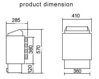 Electric Sauna Heater Steam Room Equipment 4.5KW 60HZ With
