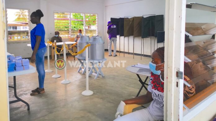 COVID-19 regulations observed at polling stations