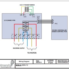 Single Phase Motor Wiring Diagram Capacitor Start Auto Electrical Diagrams Electronic Stater, Mumbai, India