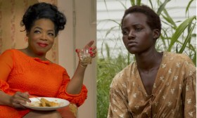 Some believe Oprah Winfrey's turn in The Butler (left) deserved a nod. Lupita Nyong'o will likely take home gold for her stoic portrayal in 12 Years a Slave.