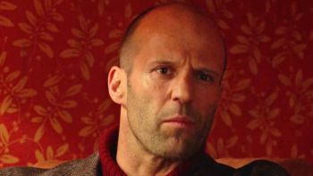 Sexy action star Jason Statham shows off some serious comic muscle.