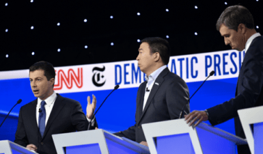 Buttigieg delivers forceful performance on debate stage