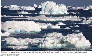 Antartic ice