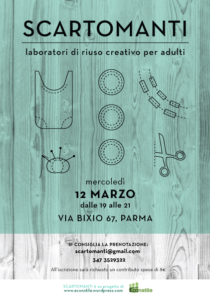 Laboratorio di riuso creativo per adulti, il 12 marzo a Parma