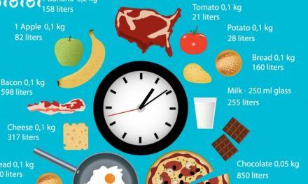 Quanta acqua mangi ? Troppa in un'infografica