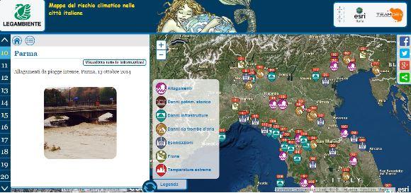 Legambiente elabora la prima mappa del rischio climatico italiano