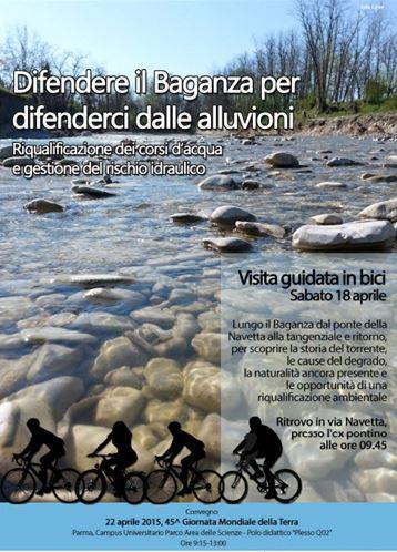 Biciclettata e convegno per difendere il Baganza. A Parma il 18 e 22 aprile