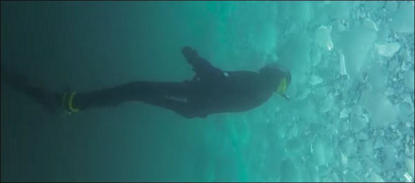 Fare diving sotto i ghiacci antartici. Bello…da morire