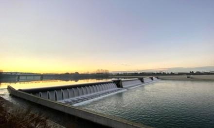 CASALE MONFERRATO, LA SUA NUOVA DIGA AD ACQUA FLUENTE
