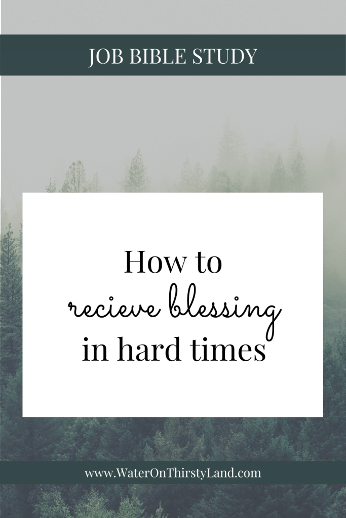 How to receive blessing in hard times