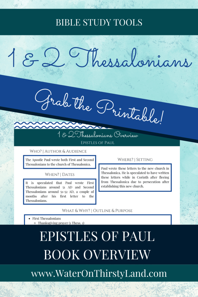 1 & 2 Thessalonians Book Overview Printable