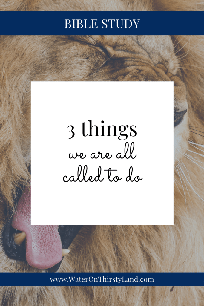 3 Things we are all called to do