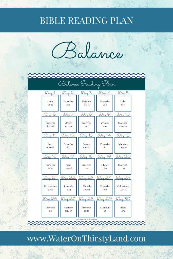 Balance Bible Reading Plan
