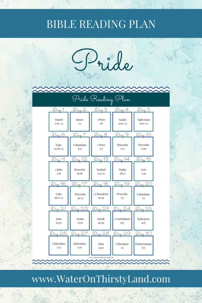 Pride Bible Reading Plan