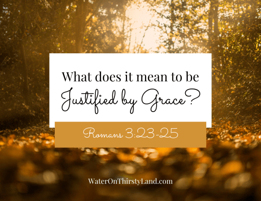 What does it mean to be Justified by Grace?