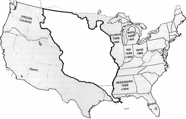 Blank Map Of United States 1803
