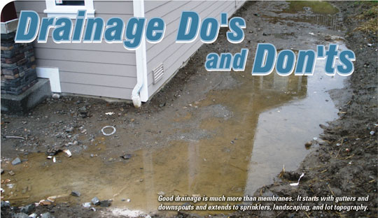 Drainage Do's And Don'ts