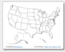 Us Map Blank Quiz