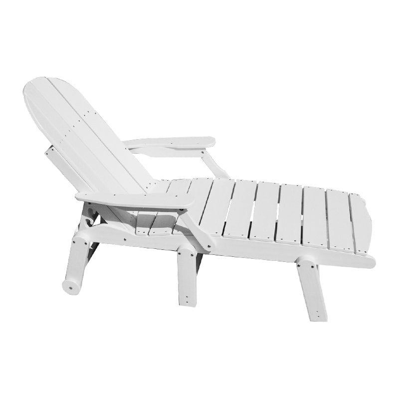 recycled plastic chaise lounge with arms