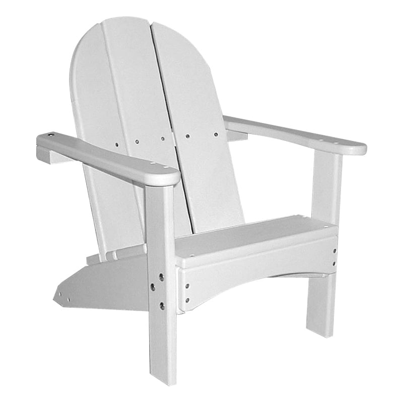 childrens adirondack chair plastic black covers with tablecloths recycled kids zkd700 white jpg