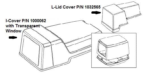 Pentair Autotrol L-Lid Cover 1032565 & I-Lid Cover 1000062