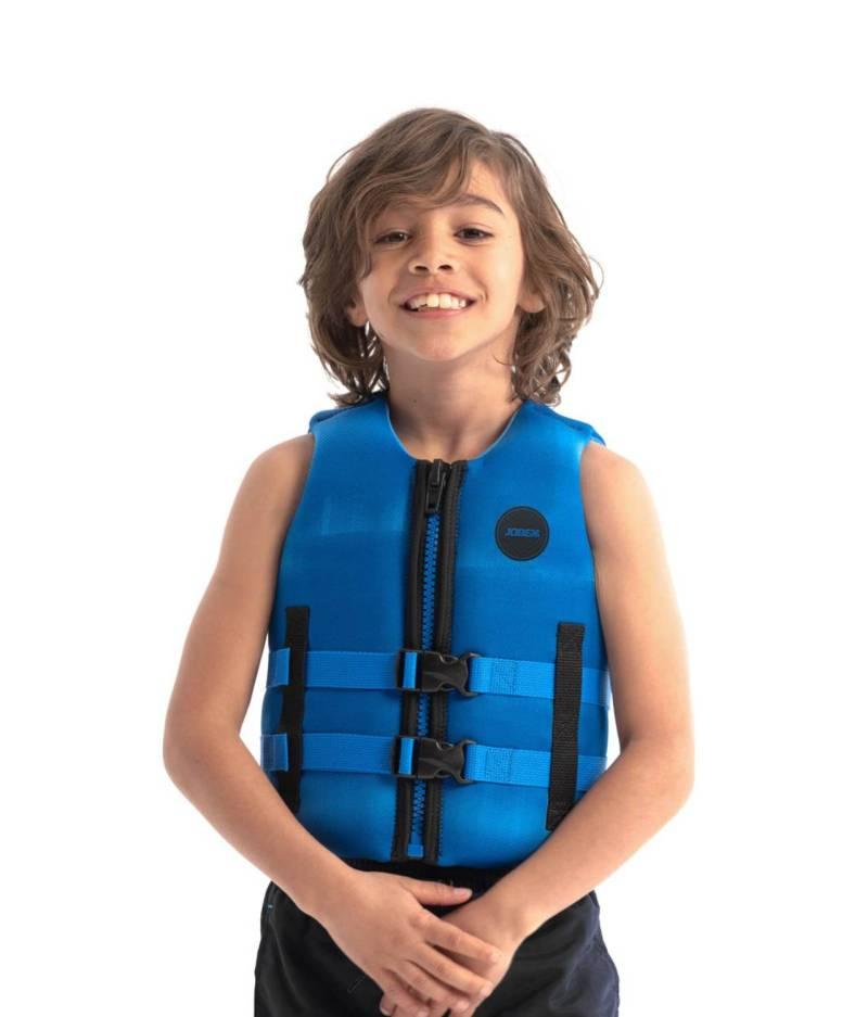 jobe neopren kinder schwimmweste blau