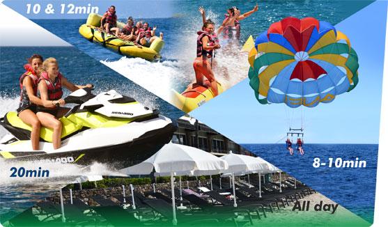crazy sofa ride white leather blackpool sun pack 1 water sports offers gran canaria jet ski banana parasailing sunbed umbrella
